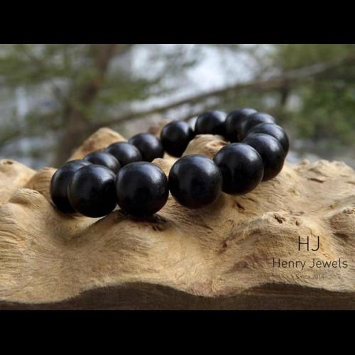 Vòng tay gỗ Mun sừng đen