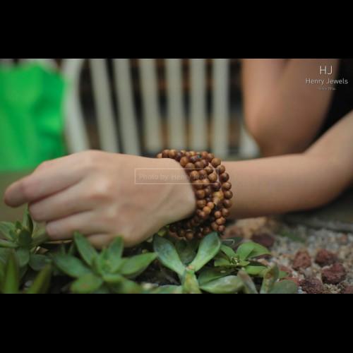 Vòng gỗ Trầm Tốc Malaysia Chuỗi Tròn 108 hạt