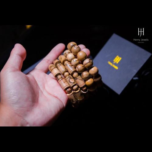 Vòng gỗ Trầm Tốc Dó Dầu Việt Nam hạt tròn