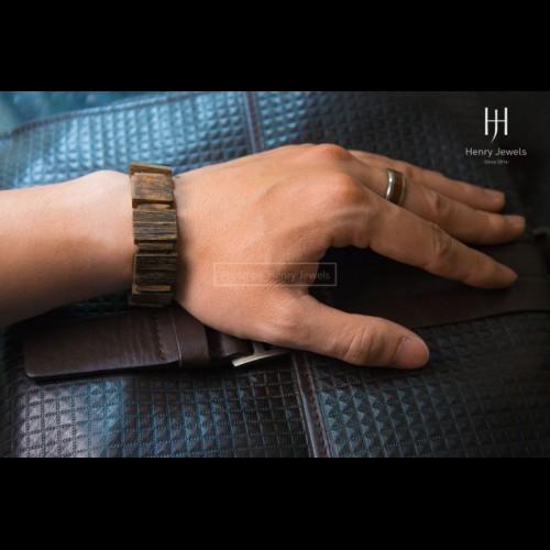 Vòng Trầm Dó Việt Nam đeo tay bản Chữ Nhật