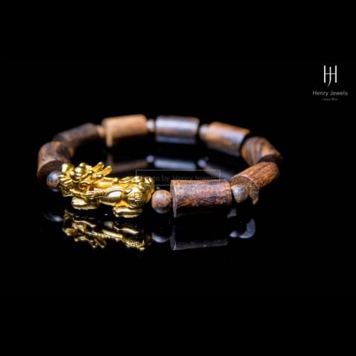 Tỳ hưu Bạc - Bạc Mạ Vàng mix vòng