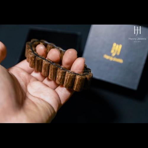 Vòng Trầm Sánh chìm nước dầu vàng đốt trúc xếp dọc