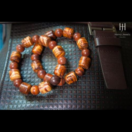 Vòng gỗ Sưa Đỏ Việt Nam chuỗi trúc tròn vân VIP