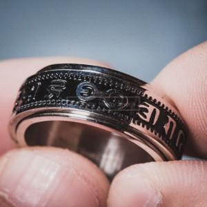 Nhẫn Titanium Khắc chú chữ Phạn