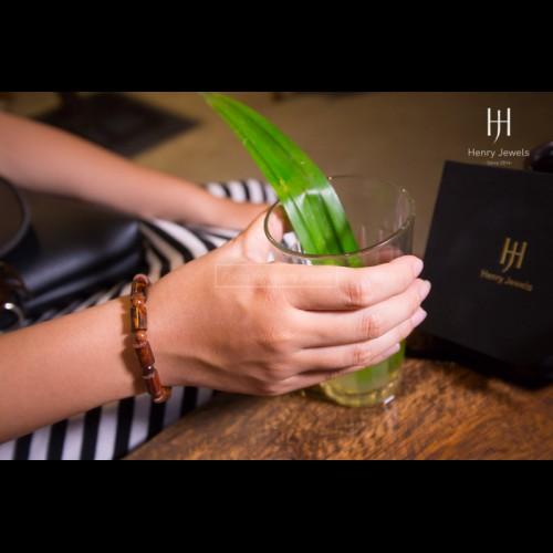 Vòng gỗ Sưa Đỏ Việt Nam Vân VIP đốt trúc 8mm