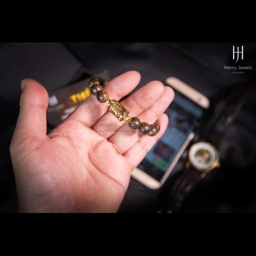 Vòng Trầm Sánh chìm Dầu Vàng bọc chữ vàng 10K theo tên khách hàng
