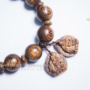 Trầm Sánh Chìm Nước Dầu Vàng mix Lắc Tượng Phật Di Lặc