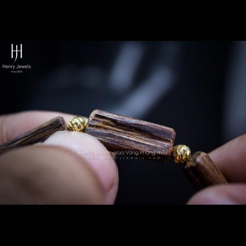 Trầm Rin Lào Dầu đặc mix bi vàng 10K Super VIP MS01