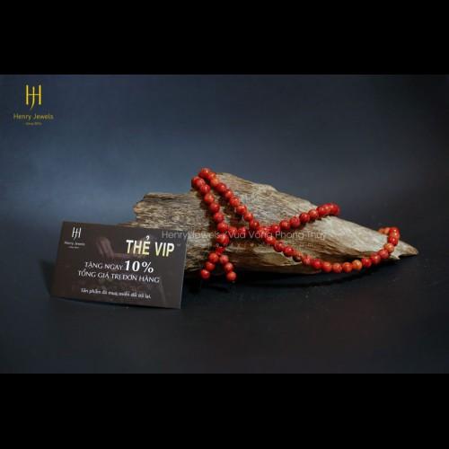 Vòng san hô đỏ Indonesia chuỗi 108 hạt