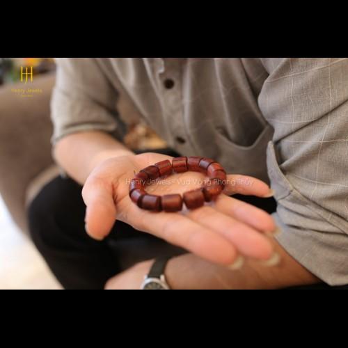 Tử đàn Tiểu diệp Ấn Độ dáng trúc tròn