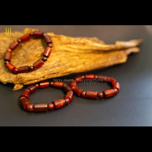 Vòng Tử Đàn Tiểu Diệp Ấn Độ dáng đốt trúc