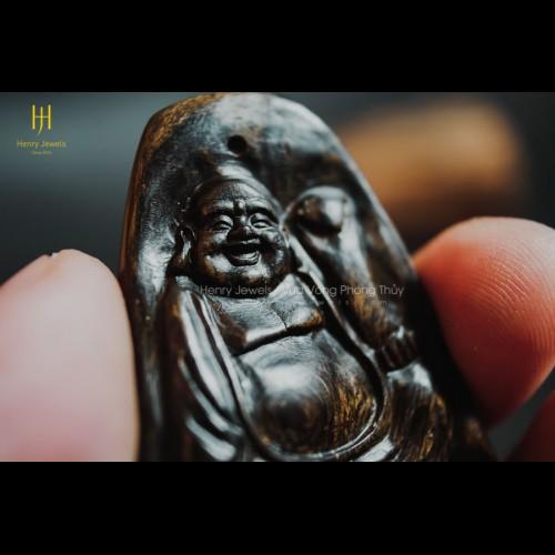 Mặt Phật Di Lặc Trầm Hương Indonesia Tạc Thủ Công (MS 01)
