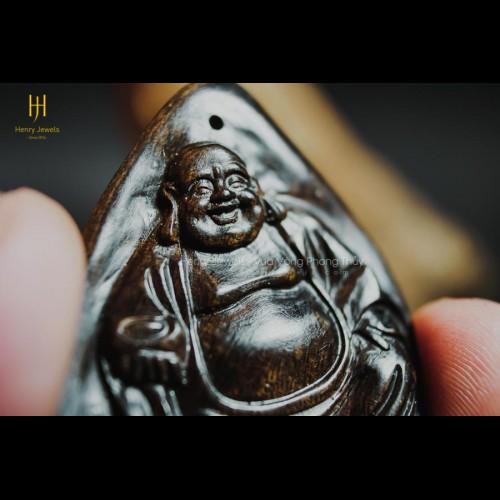 Mặt Phật Di Lặc Trầm Hương Indonesia Tạc Thủ Công (MS 02)