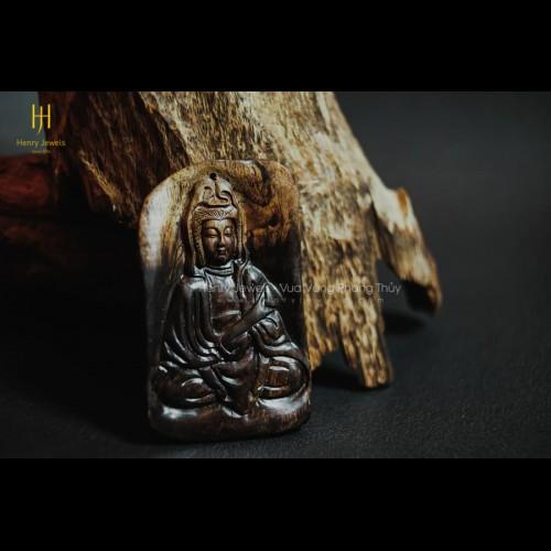 Mặt Phật Quan Âm Trầm Hương Indonesia (MS 02)