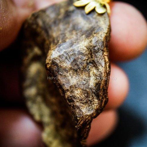 Mặt Trầm Rin chìm hàng Rục size lớn mix khoen vàng 10K