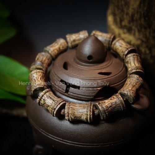 Vòng Trầm Sánh chìm nước dầu vàng đốt trúc Phật Bà