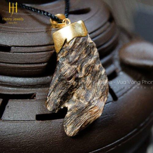 Mặt Kỳ Hổ KH-03 size nhỏ mix khoen vàng 10K