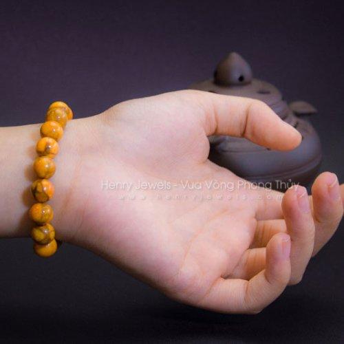 Vòng tay san hô da cam cho nữ