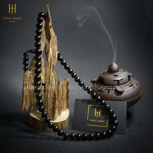 Vòng Tràng Hạt Mun Sừng Niệm Phật 10mm 54 Hạt