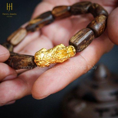 Trầm Hương Núi Rin Dầu Đặc Chìm Nước Mix Tỳ Hưu Vàng 24K MS T.R142 14