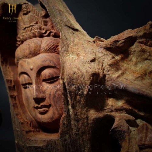 Diện Phật Gỗ Hương Để Bàn TG0001 Size 20cm x 30cm