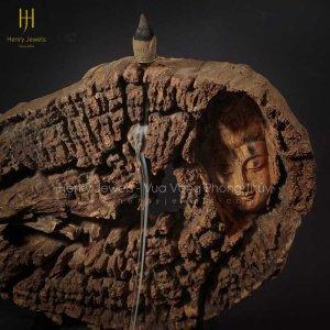 Diện Phật Xông Trầm Gỗ Hương Để Bàn TG0002 Size 27cm x 40cm