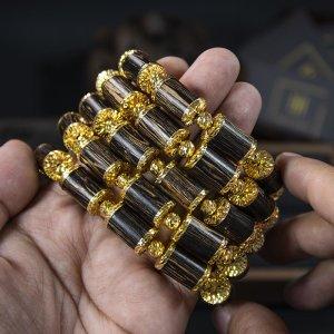 Trầm Sánh Chìm Nước Dầu Vàng Bọc Vàng 18K - Bản Đặc Biệt